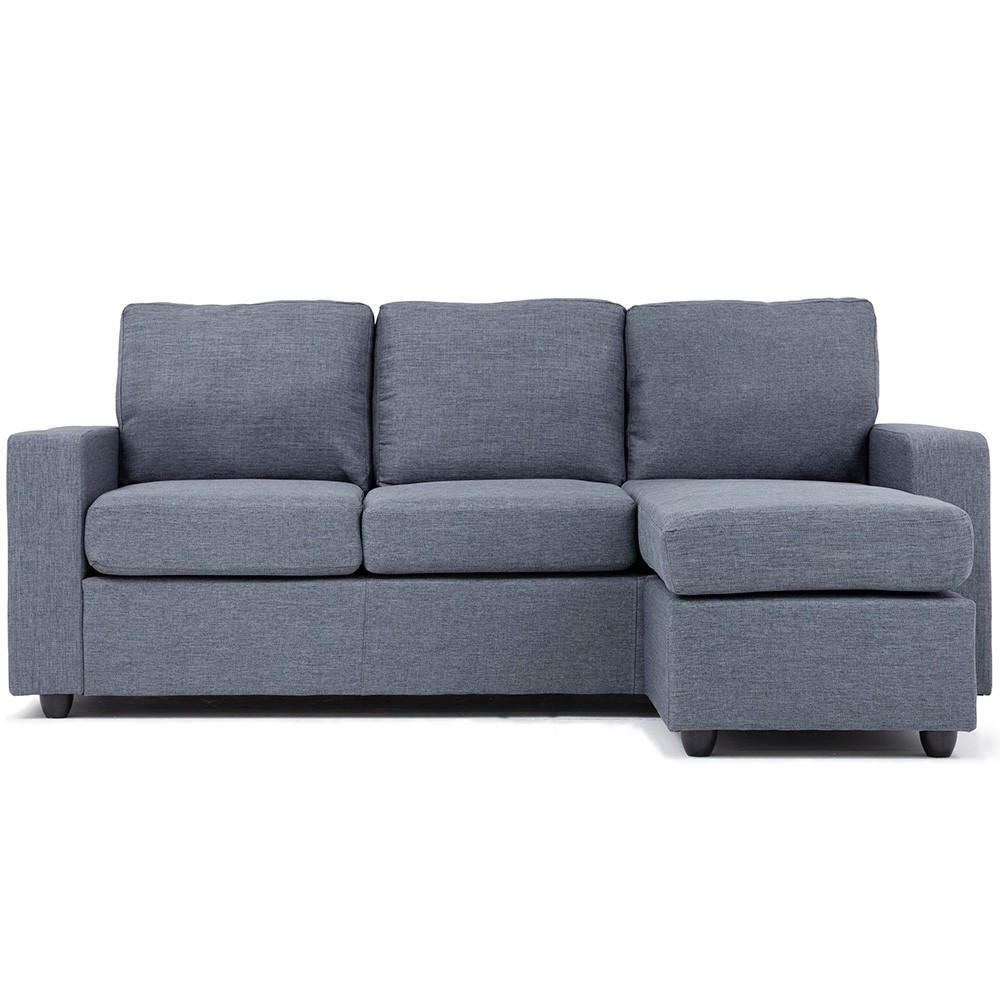 Lara Right/Left Reversible Corner Sofa – Light Gray