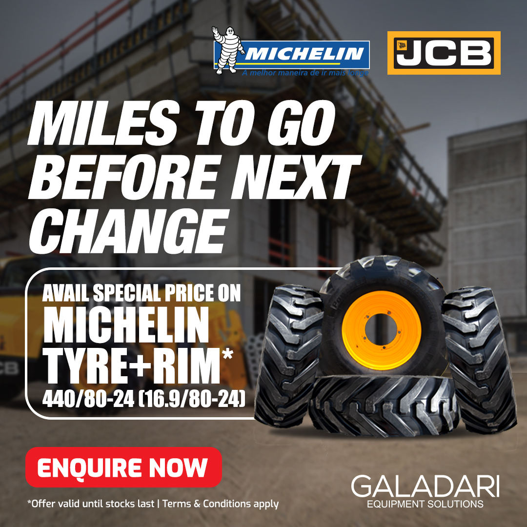 4 x Michelin Tyres with Rims - Telehandlers