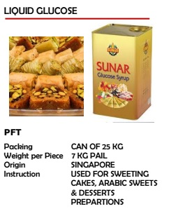 Sunar Liquid Glucose Can of 25kg
