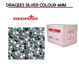Dragees Matte Silver Colour 4mm – 4kg Bag