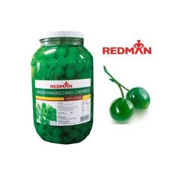 Maraschino Cherries with Stem Green 1Gal