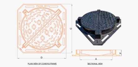 DI manhole cover