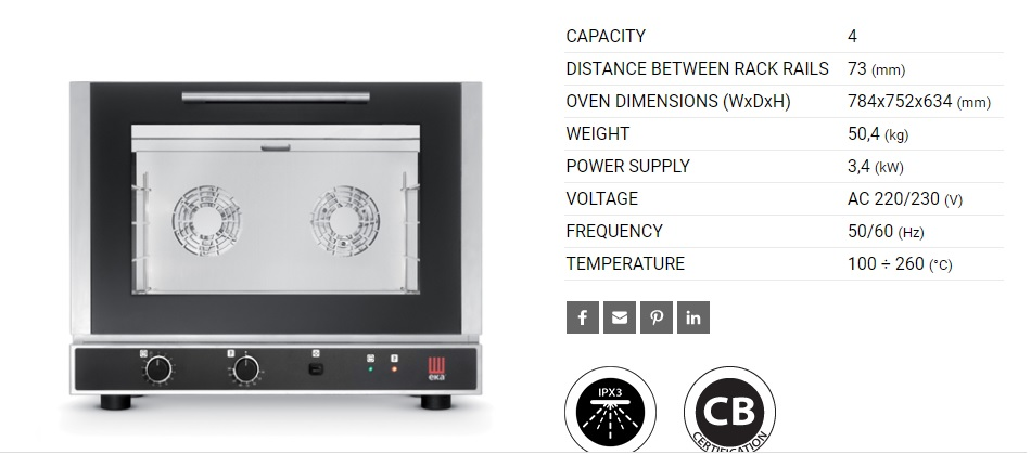 ELECTRIC CONVECTION OVEN   MANUAL CONTROL