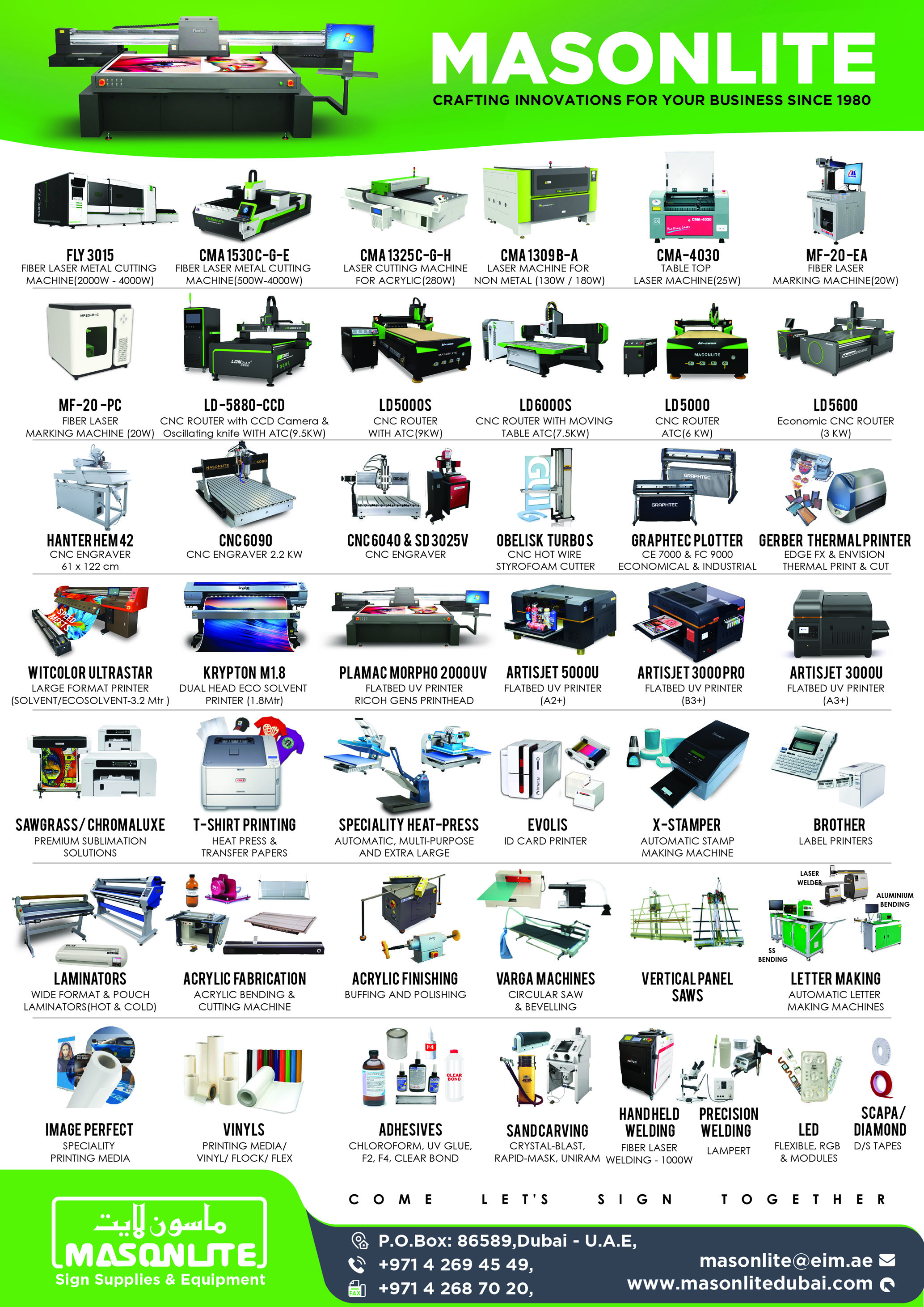 Sign Supplies and Equipment