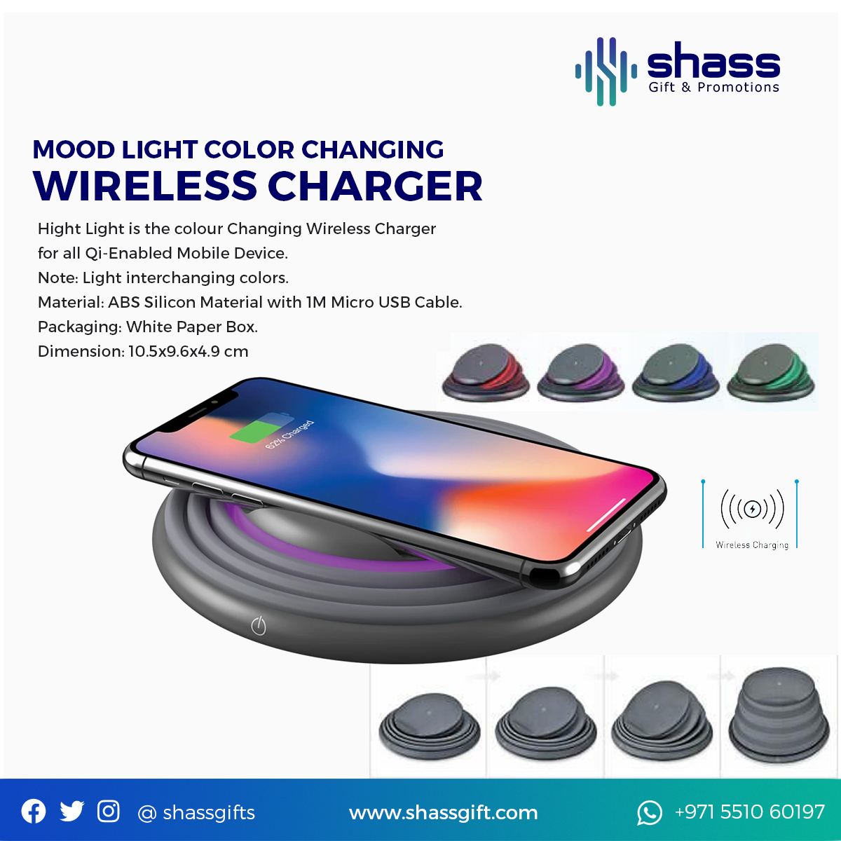 Mood Light Color Changing Wireless Charger