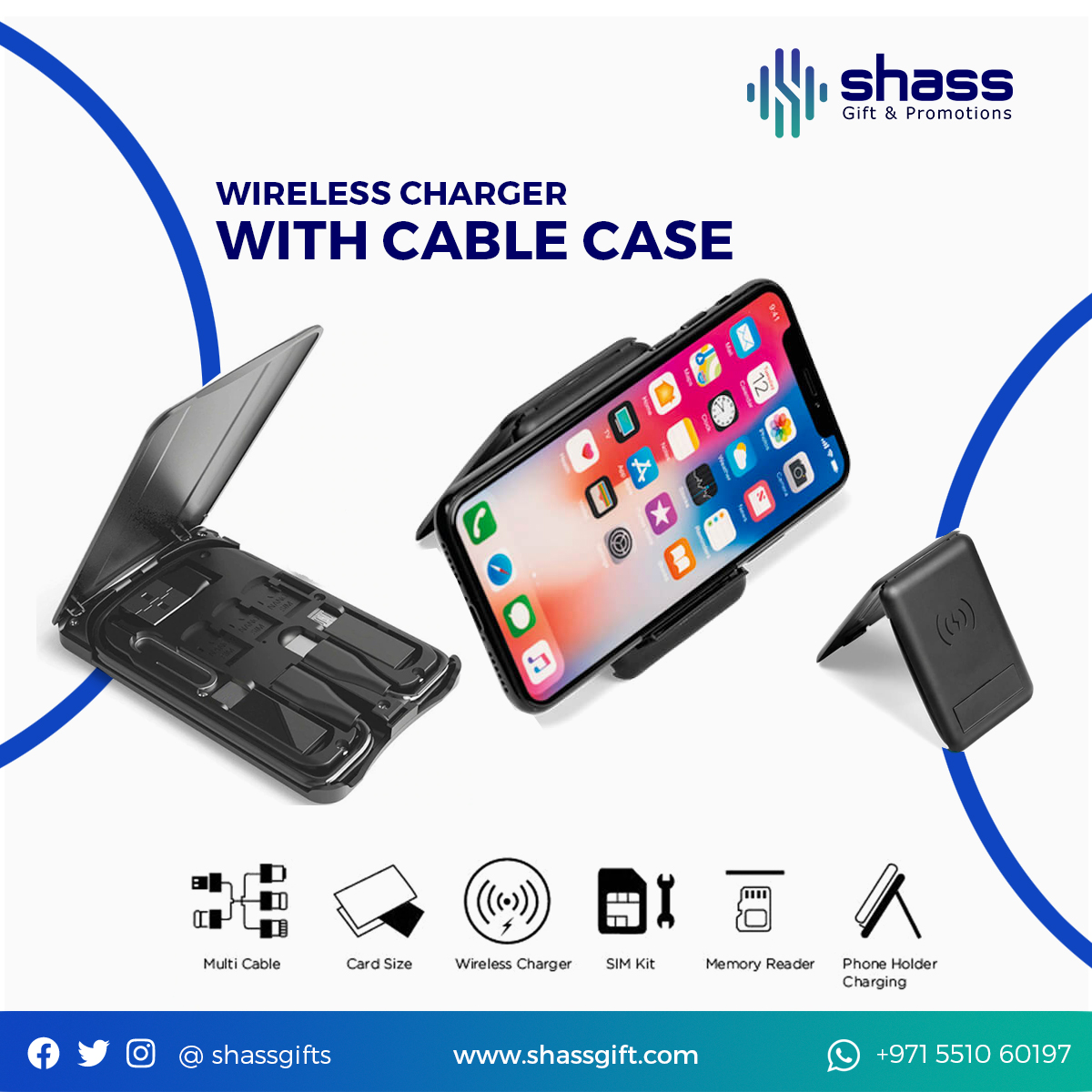 Wireless Charger With Cable Case