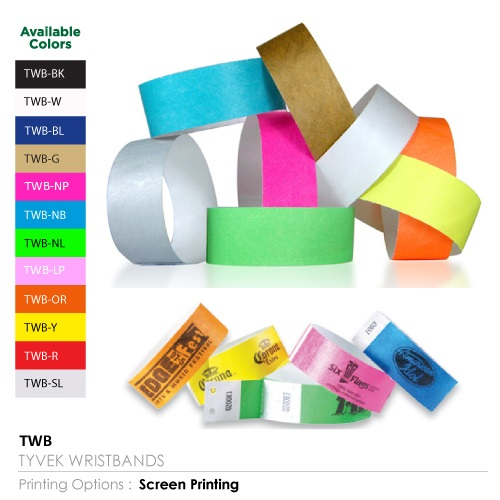 Tyveck wristbands